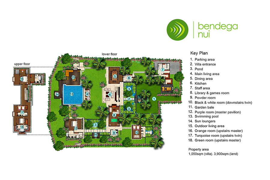 villa bendega nui floor plan