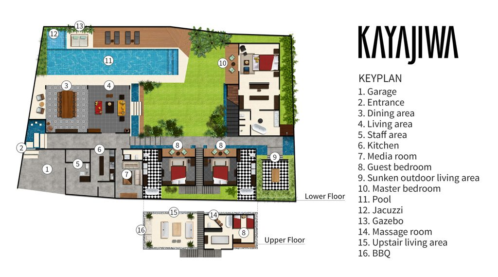 Villa Kayajiwa Floor plan