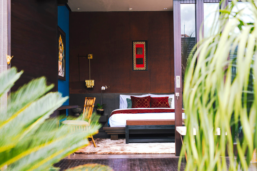 Villa Kayajiwa Guest bedroom two as seen from garden