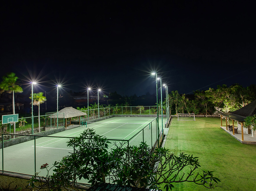 4. The Beji Tennis court at night
