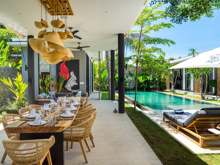 9. Villa Vida at Canggu Beachside Villas Stylish villa design