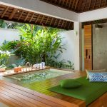 The Beji Master suite semi outdoor bath