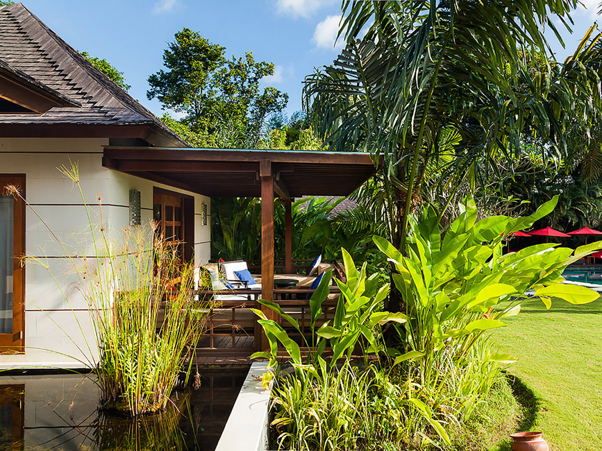 The Beji Pond around guest suite 6