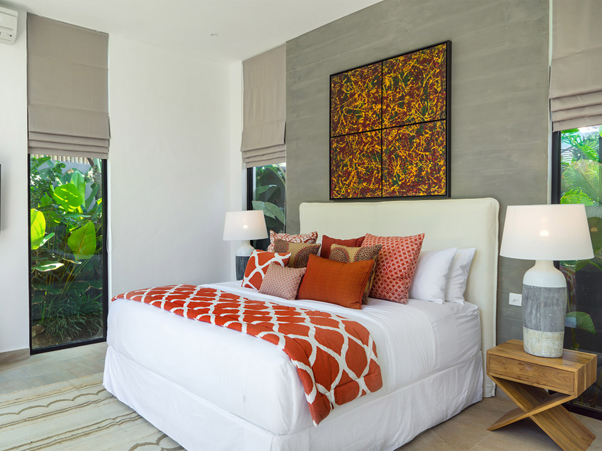 Villa Vida at Canggu Beachside Villas Guest bedroom design