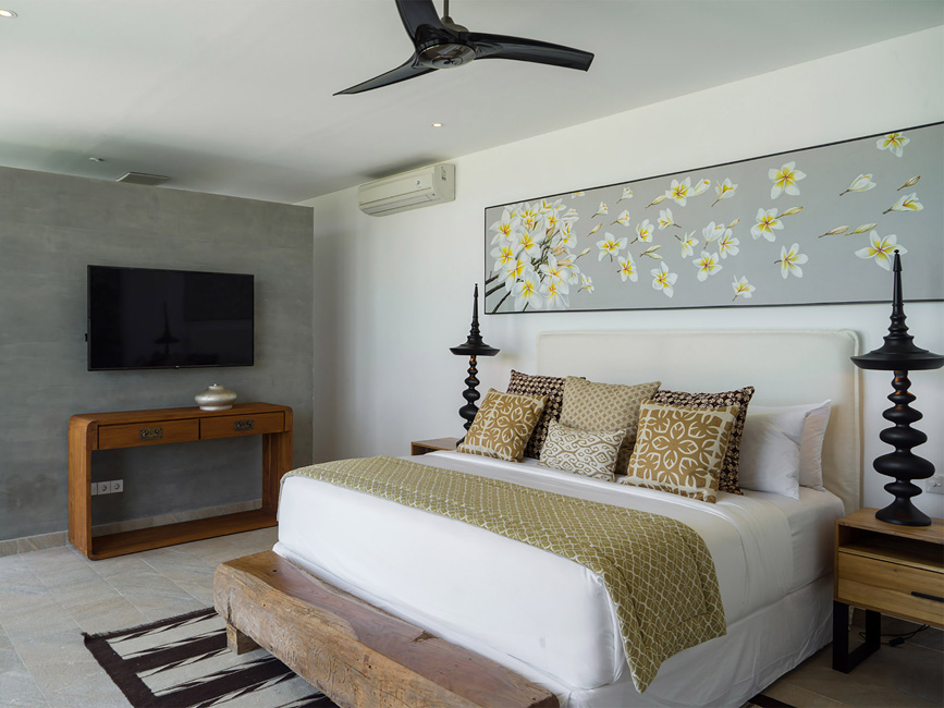 Villa Vida at Canggu Beachside Villas Master bedroom design