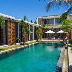 Villa Vida at Canggu Beachside Villas Swim under a clear blue sky