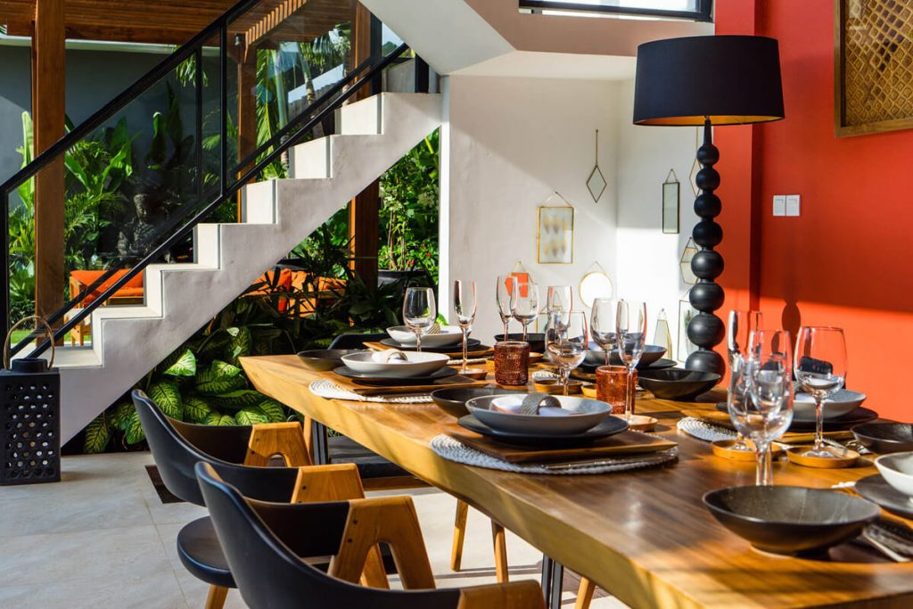 Villa Boa at Canggu Beachside Villas Elegant dining area design