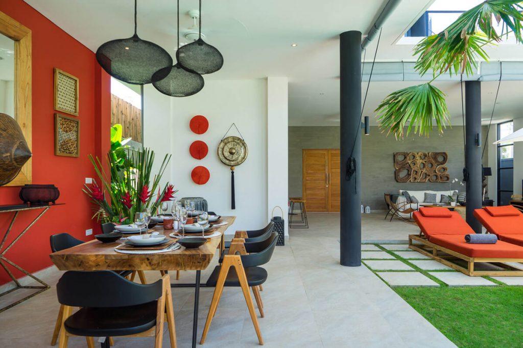 Villa Boa at Canggu Beachside Villas Exquisite dining area design