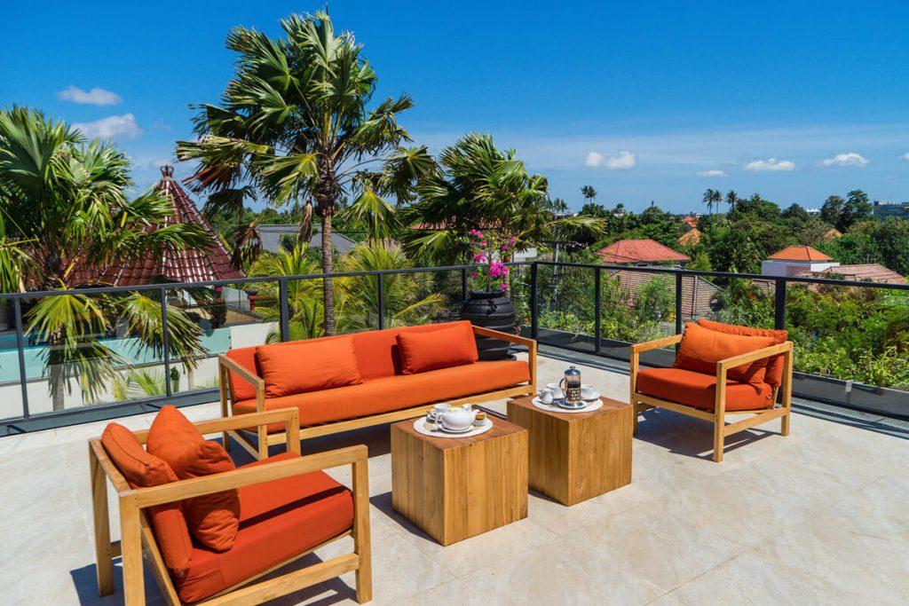 Villa Boa at Canggu Beachside Villas Rooftop and the view