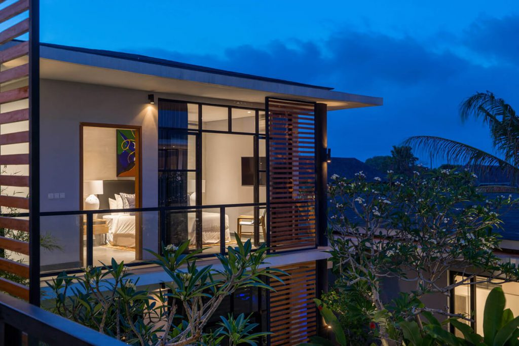 Villa Gu at Canggu Beachside Villas Dusk lighting