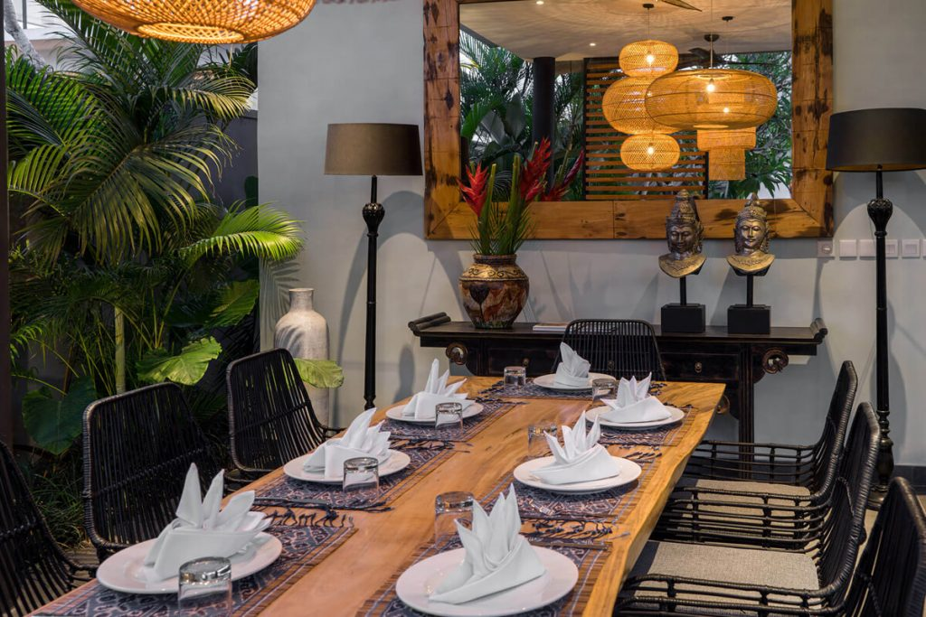 Villa Gu at Canggu Beachside Villas Elegant table setting