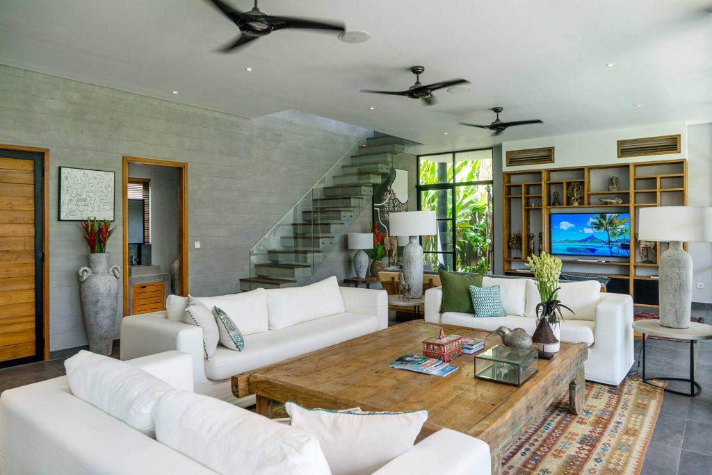 Villa Gu at Canggu Beachside Villas Living area design