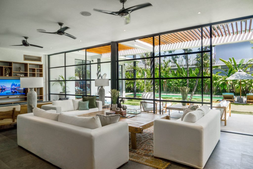 Villa Gu at Canggu Beachside Villas Modern living area