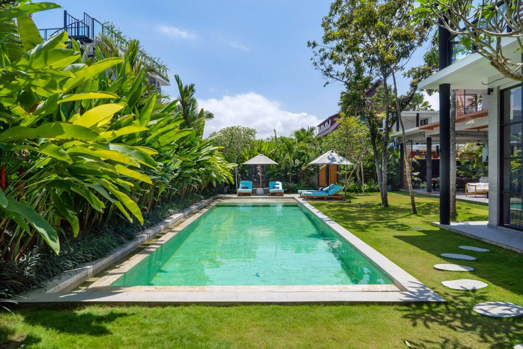 Villa Gu at Canggu Beachside Villas Pool scenery
