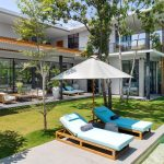 Villa Gu at Canggu Beachside Villas Sunloungers by the pool