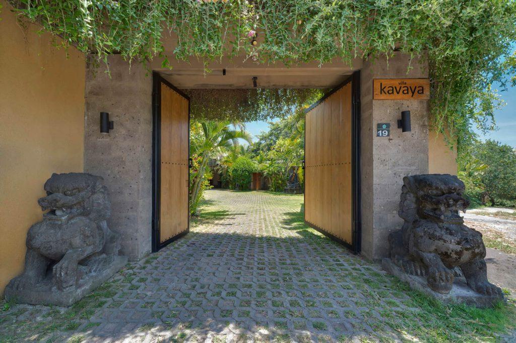 Villa Kavaya The entrance