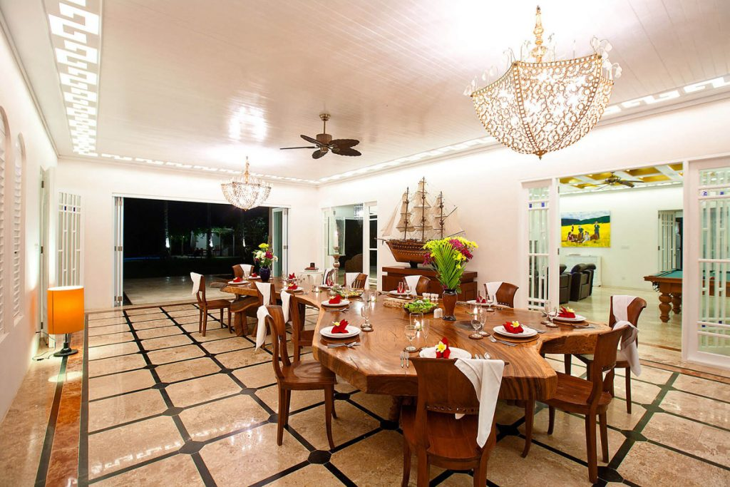 Villa Puri Nirwana Dining area layout