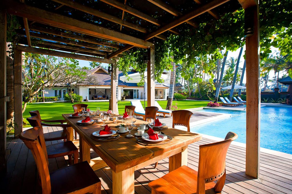 Villa Puri Nirwana Outdoor dining area