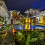 Villa-Banyu-Bali-Evening-Garden