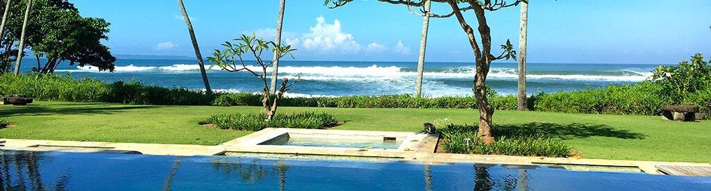luxury beachfront villas in Bali
